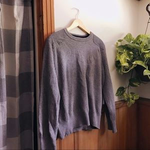 Wool Shoulder Patch Sweater